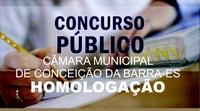 Câmara Municipal de Conceição da Barra-ES homologa resultado do Concurso Público 2018