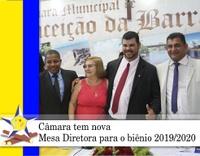 Câmara tem nova Mesa Diretora para o biênio 2019/2020